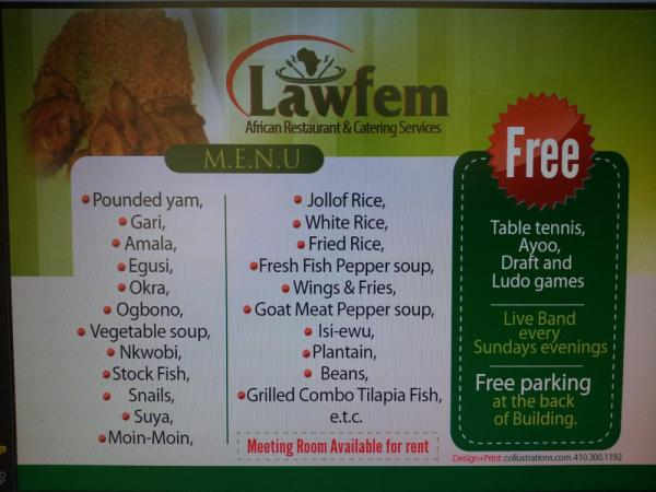 Lawfem African Restaurant & Catering Services